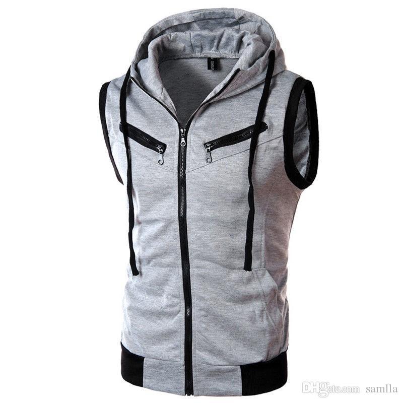 New Mens Jacket Sleeveless veste homme Winter Fashion Casual Coats Male Hooded Men's Vest men Thickening Waistcoat