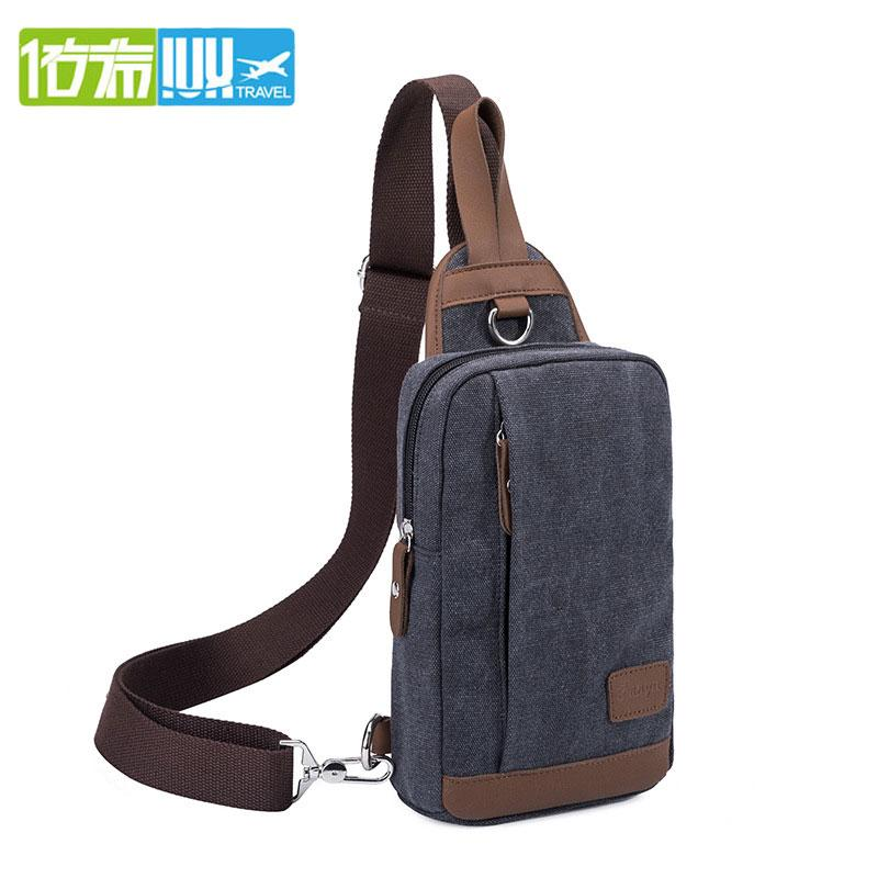 IUX Casual Mens Chest Pack Large Capacity Crossbody Bags Male Shoulder Bag USB Charging Waterproof Messenger Bag