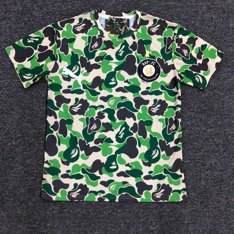2019 fashion Best Quality Mens 19BAPE A New BATHING 19 APE Camo Maglietta girocollo T-Shirt