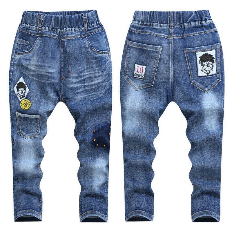 Teenager bambini ragazzo del denim dei jeans pantaloni abbigliamento giovanile boy elegante lunghe sottili adolescenti Pantaloni 10 anni