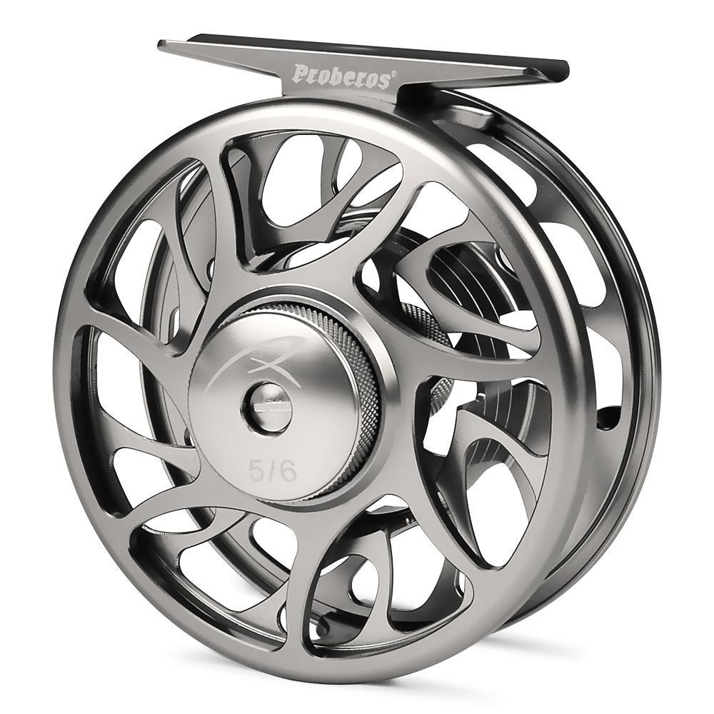 PRO BEROS Fly Fishing Wheel 5/6 7/8 9/11 WT Fly Fishing Reel CNC Machine Cut Large Arbor Die Casting Aluminum Fly Reel