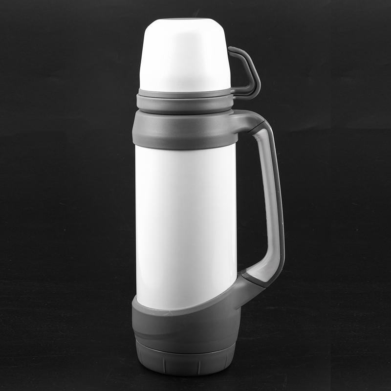 Forma de Copa recta viaje 1.2L Termos al aire libre de la botella del termos de acero inoxidable termos de Preservación de calor de la taza Therma