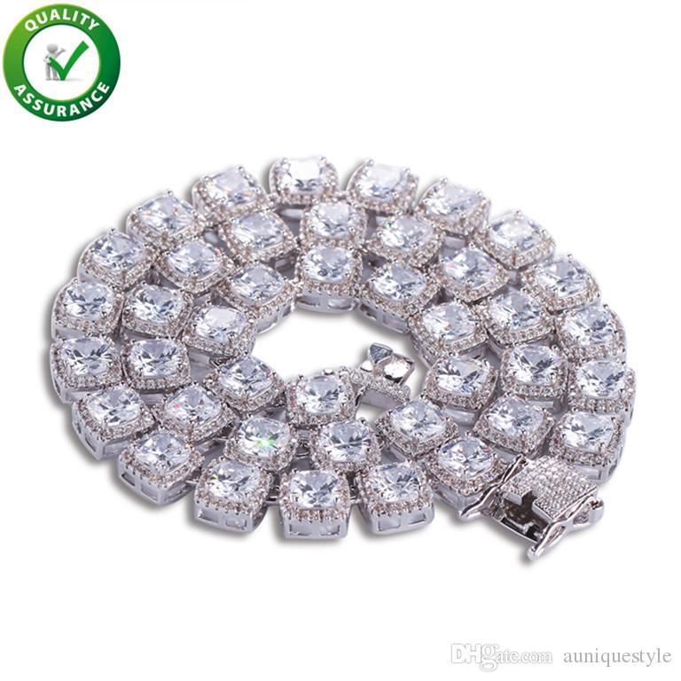 Iced Out Chains Mens Jewelry Hip Hop Designer Cuban Link Chain Luxury Diamond Men Bracelets Brand Pandora Style Charms Love Rapper Bangles