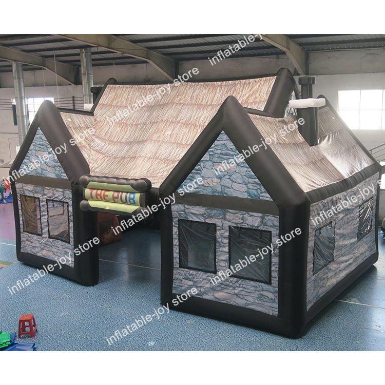 Продажа горячей продажи портативный надувной паб для продажи, коммерческая надувная барная палатка с воздуходувкой, надувные партии палатки