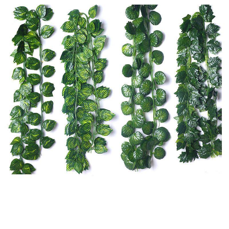 230cm piante seta artificiale Hanging foglia di edera verde ghirlanda di foglie di vite fai da te Per la casa Bagno Decorazione Garden Party Decor