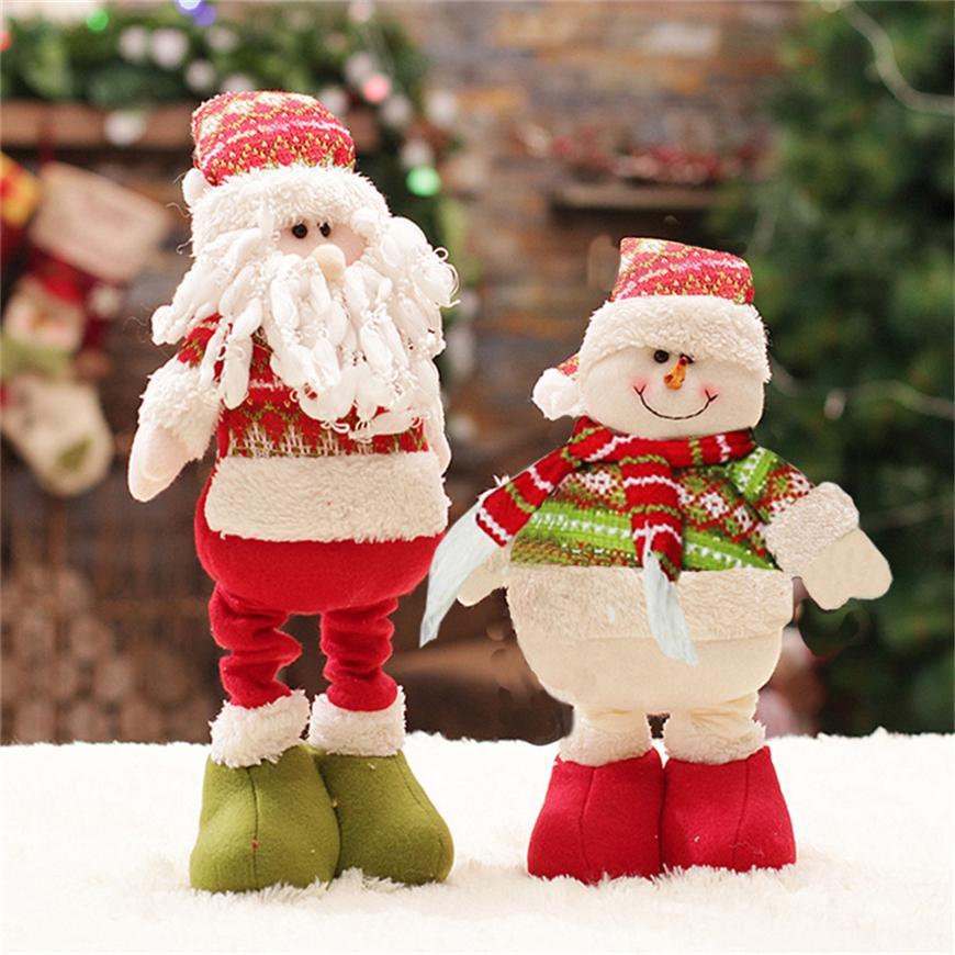 Ev Enfeite De Natal Büyük Bebek oyuncak Noel Süslemeleri İçin 47cm Noel Baba Noel Süsleri Ağacı Süsler için