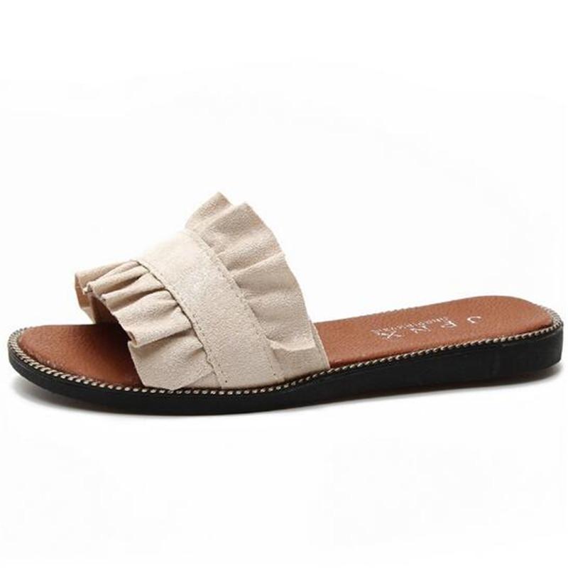 Venta al por mayor nuevas mujeres al por menor de verano zapatillas mujer zapatillas casual zapatos de verano sandalias planas suaves de las mujeres cómodas sandalias de los deslizadores inferiores