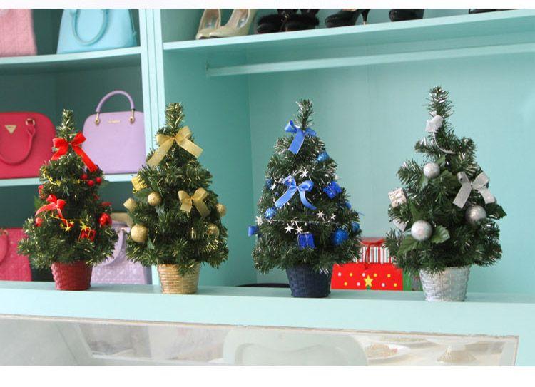 árvore de exibição da janela de mesa 40 centímetros Mini Natal pequenos enfeites de árvore de Natal