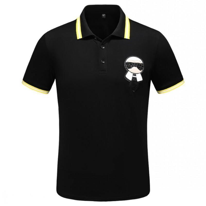 mens designer polo shirt brand Printing Top t shirts for Italy Fashion polo shirt men High street Cotton tags Tops t shirts M-3XL