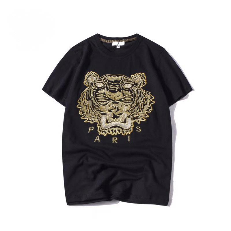 kenzo mens designer t shirts hommes Tops Tête De Tête Lettre Broderie t shirt men Vêtements Pour women Marque À Manches Courtes Tshirt Tops S-2XL
