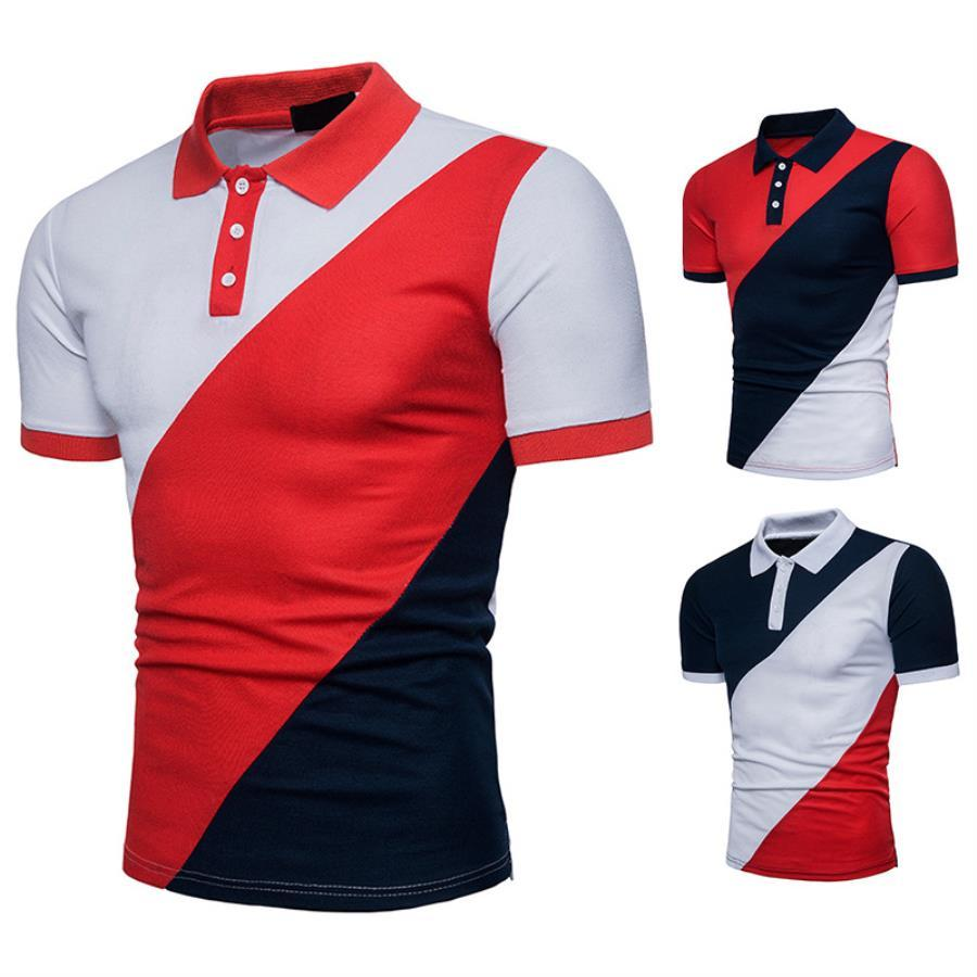 Sleeve Luxury Herren Revers Designer Polo 2020 Männer High Short Tshirt Shirts T-shirt Mann Kleidung Qualität Hemden Polo Herrenmode Q42 LKCWI