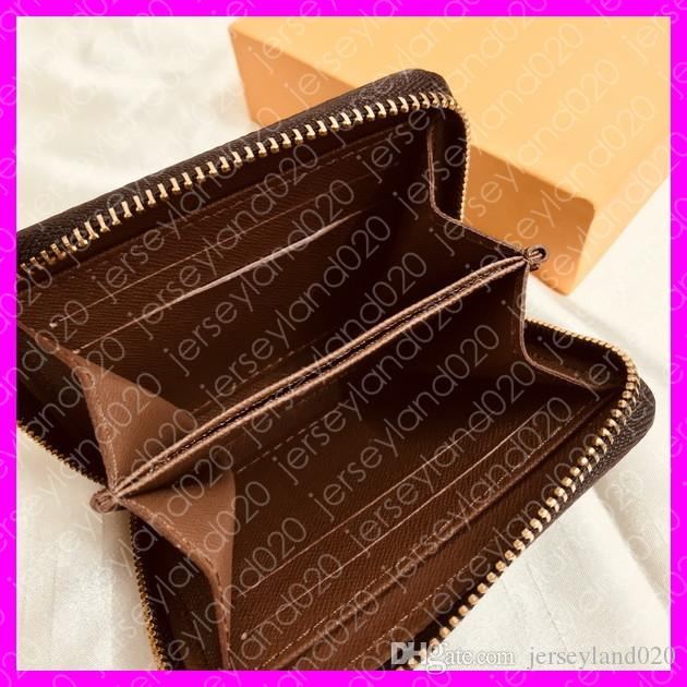 ZIPPY COIN PURSE M60067 Hot Fashion Designer Womens compatto portafoglio corto di lusso Key Card Holder caso Pochette Pouch Cle Damier Canvas N63070