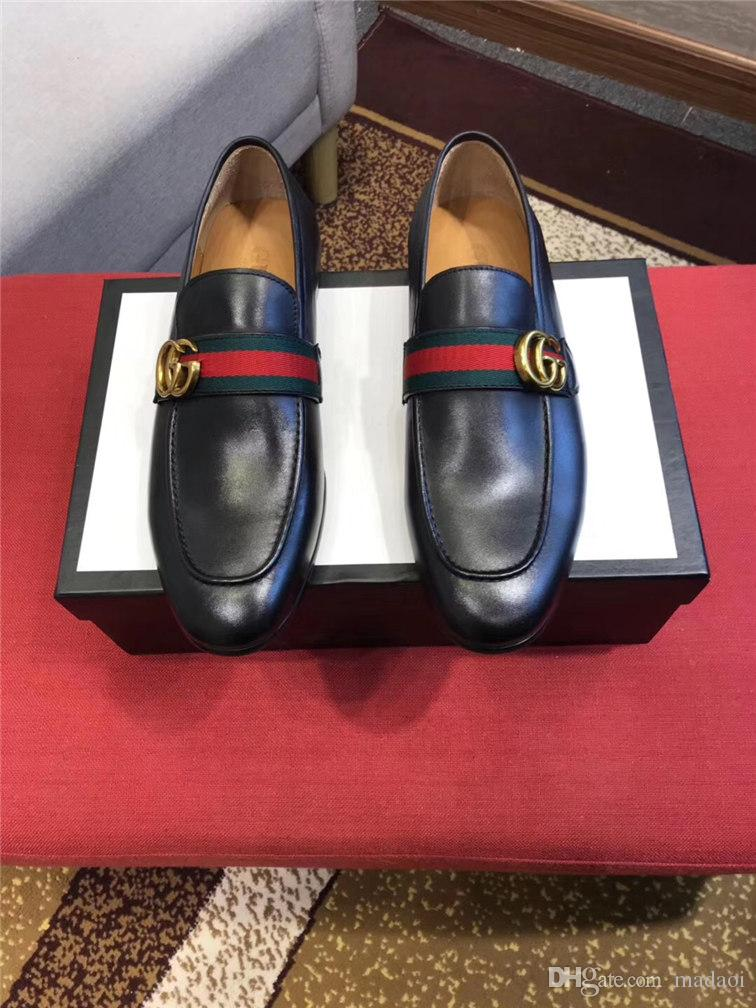 Dress 19ss uomini dei pattini 2019 NUOVO arrivo scarpe formale maschile Vitage design Slip-on Scarpe in pelle