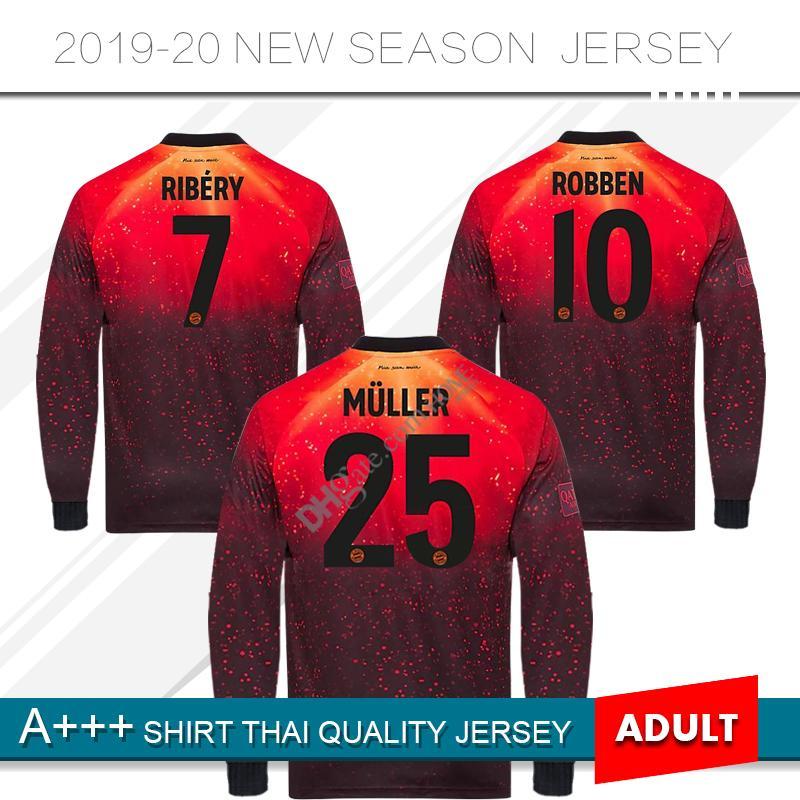 factory price e7388 6ea64 2019 Limited Edition Long Sleeve Bayern Munich Soccer Jersey 18/19 #11  JAMES Soccer Shirt 2019 #25 MULLER #9 LEWANDOWSKI Football Uniform From ...