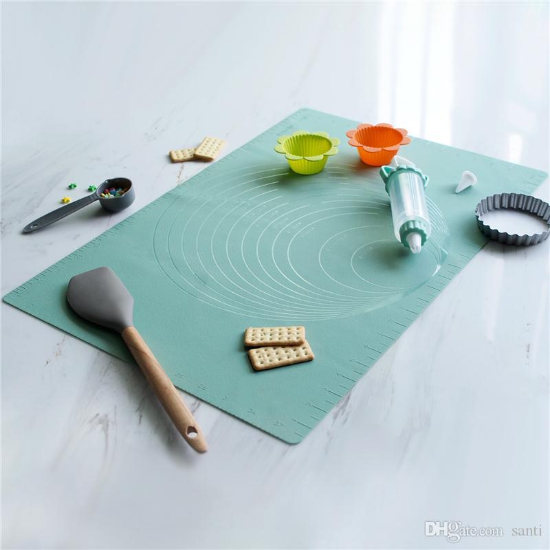 Silicone Mat di cottura con scala di riferimento Lines 24in accessori per la non-Stick Rolling Dough Pad cottura cucina Strumenti JK2001