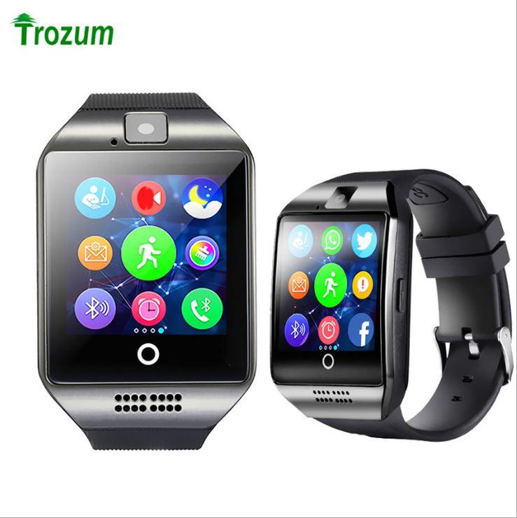 DHL free shipping Q18 smart watch mobile phone Bluetooth card smart wear beautiful arc fashion watch gift