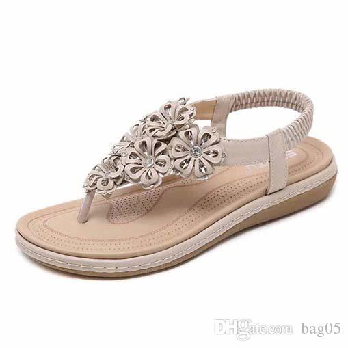 Avec La Boîte! Femme de haute qualité Pantoufles Sandales Plat Chaussures glisser Chaussures Casual Chaussures Flip Flops par bag05 PT242