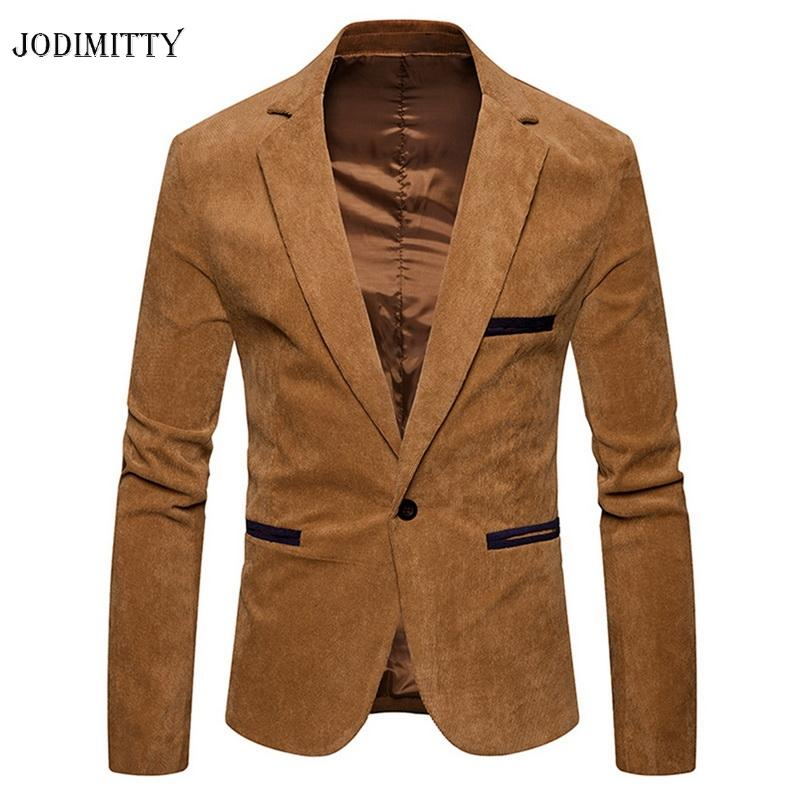 Giacche da uomo Jodimitty Uomo Giacca a velluto a velluto a velluto a corduroy Giacca in velluto Addensare Cappotti caldi Outwear Masculino Vetement Homme