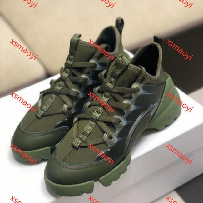 Dior D-Connect Platform boots hococal Connect sneaker per le donne d'epoca formatori Classic neoprenevacuum nero Suola Aumento 5CM Fiore Triple S Dad Shoes