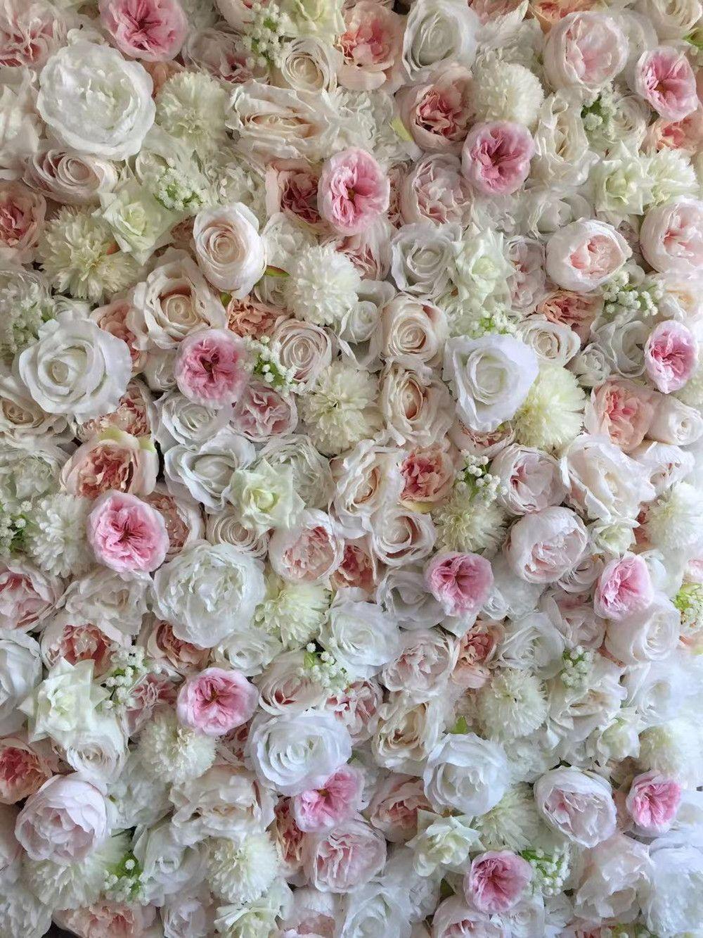 Mur de rose artificiel 3D pour la décoration de fond et de décoration de mariage