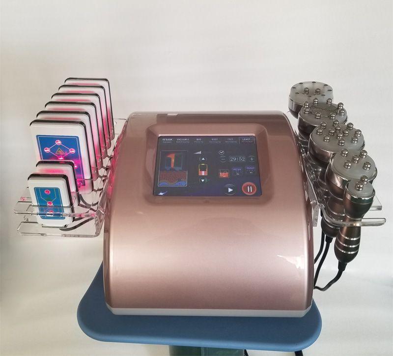 새로운 40K 초음파 vavitation 장치 다극 고주파 진공 뷰티 슬리밍 기계 lipolaser 8 개 패드