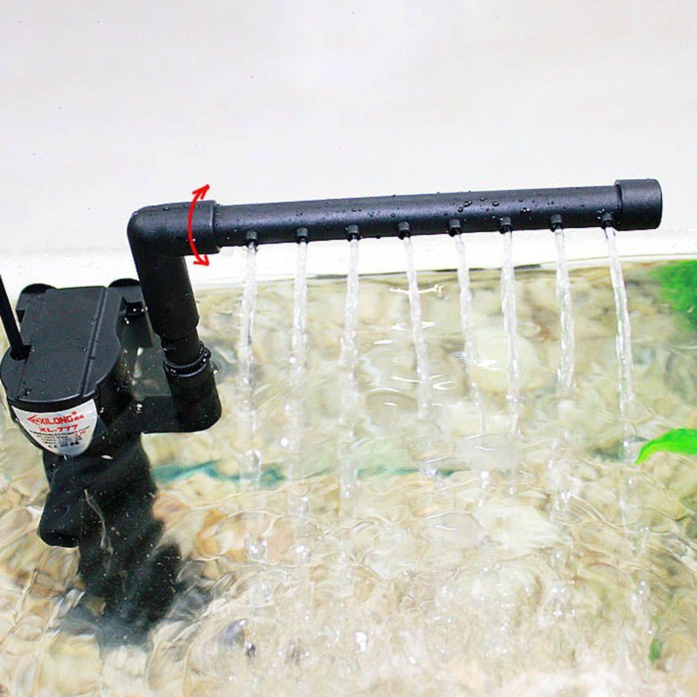 3 in 1 silenzioso Acquario Filtro sommergibile ossigeno pompa interna Spugna acqua con la pioggia Spray per Fish Tank Air Aumento 3 / 5W