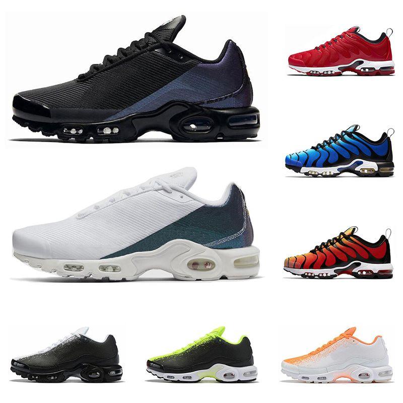 TN Plus SE кроссовки для мужчин тренер тройной черный Вольт гипер синий спортивные мужские спортивные кроссовки открытый Бегун des chaussures tns