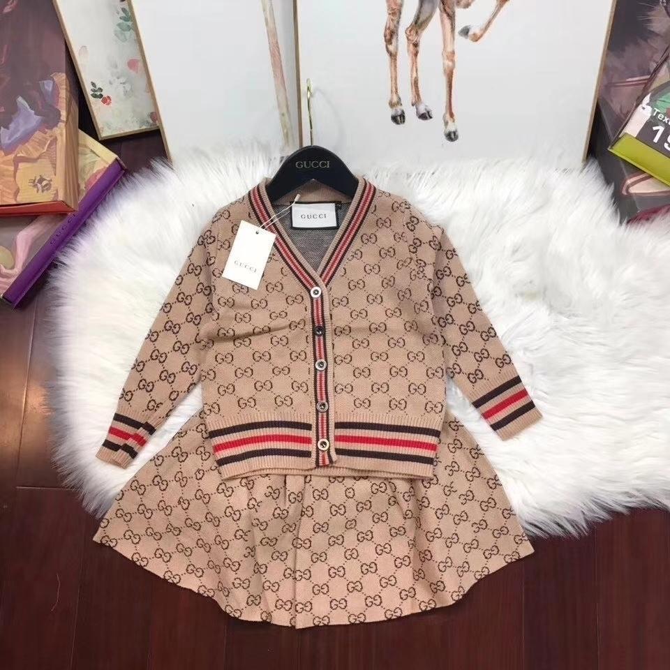 Zweiteilige Outfits Baby-Kinderkleidung Set Mädchen 2019 Kinder aus reiner Baumwolle Korean Bewegung Weave Twinset Bringen Kinderkleidung 011109