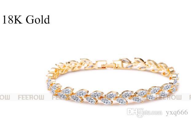 Colorful zircon bracelet Korean fashion crystal bracelet accessory for bride