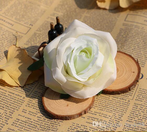 Rose tête haute imitation explosive rose tête fleur en soie imitation en plastique fleur 100 pcs / lot WL532