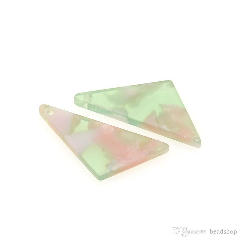 20pcs 25x11MM Acétate Acétique Acide Triangle DIY Boucles D'oreilles Pendentifs Pendule Ornements Acide Acétique Poudre Frais Pour La Fabrication de Bijoux Accessoires