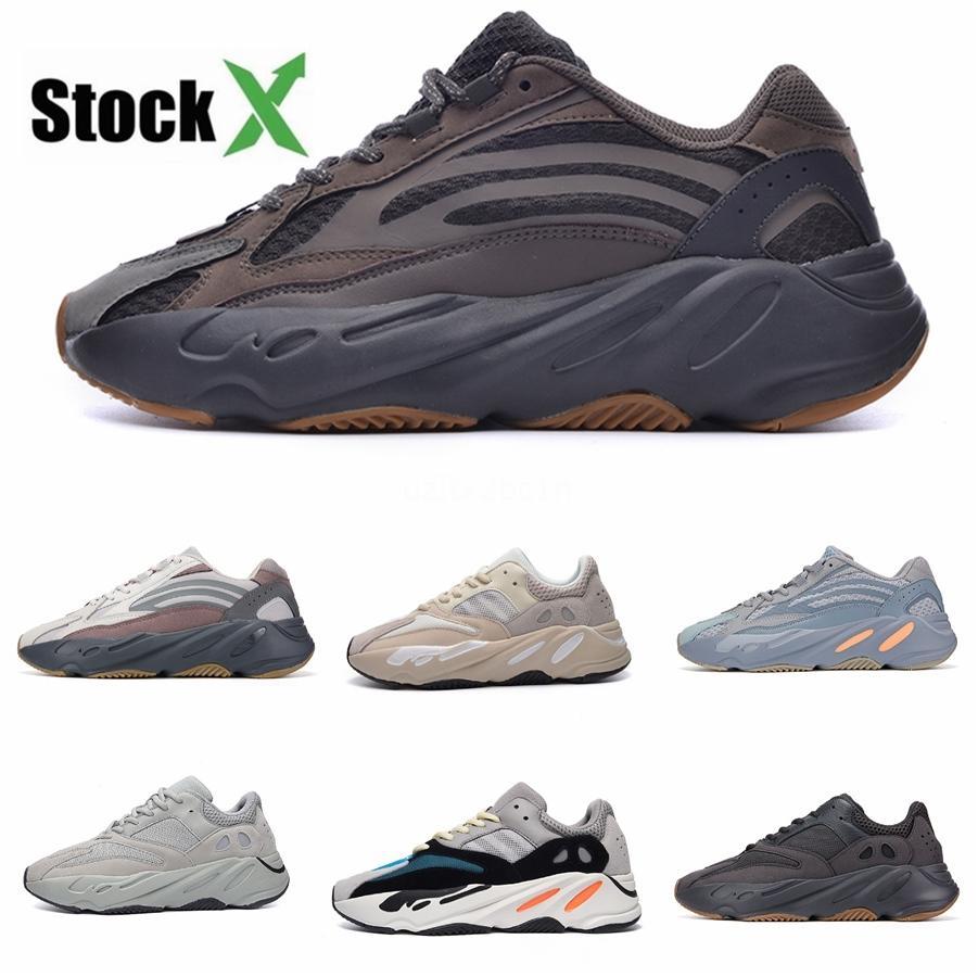Novas 700 do corredor da onda malva Inércia Mens Sapatos Kanye West Designer Shoes Homens Mulheres 700 V2 estáticos Esportes Seankers Tamanho 36-45 # 04Ff42 # # DSK167