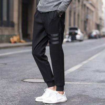 Moda Yeni Erkek Uzun Pantolon Siyah Harem Casual Pantolon Gevşek Elastik Bel Pantolon CY200518