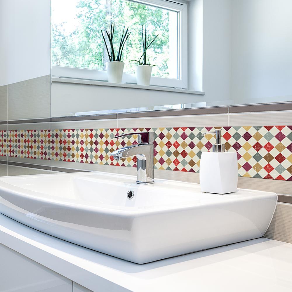 Funlife Self Adhesive Wallpaper Borders Waterproof Kitchen