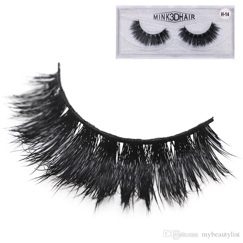 Wholesale 3D Mink False eyelashes Thick curling Super natural Lifelike fit Hand made Full strip Lashes