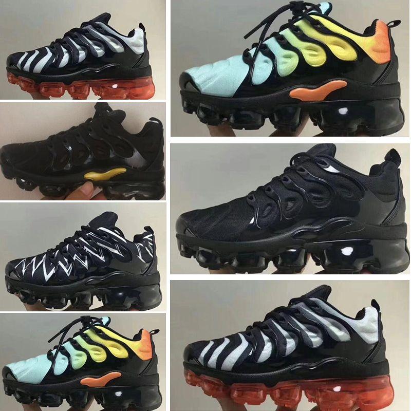 أحذية أطفال جديدة بنين بنات أولاد للطفل الوالد الطفل الأطفال متعددة أسود أبيض المدربين حذاء رياضة في الهواء الطلق يورو 28-Nike air vapormax 35