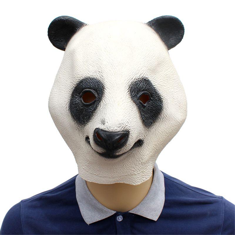 Máscara de látex de panda Película Cosplay Adulto Animal Máscara del partido gatito Realista Mascarada Prop Fiesta de disfraces Máscara de Halloween