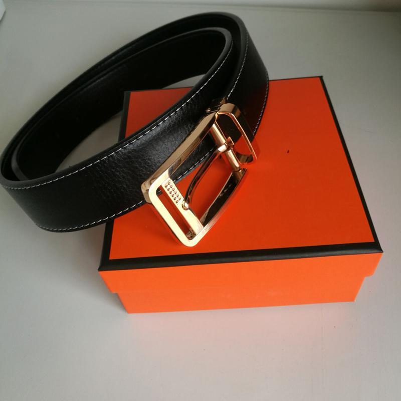 Les nouveaux hommes de mode casual ceinture fraîche ceintures en cuir de haute qualité femmes jeans ceinture de loisirs sangle de vache femelle avec boîte Livraison gratuite