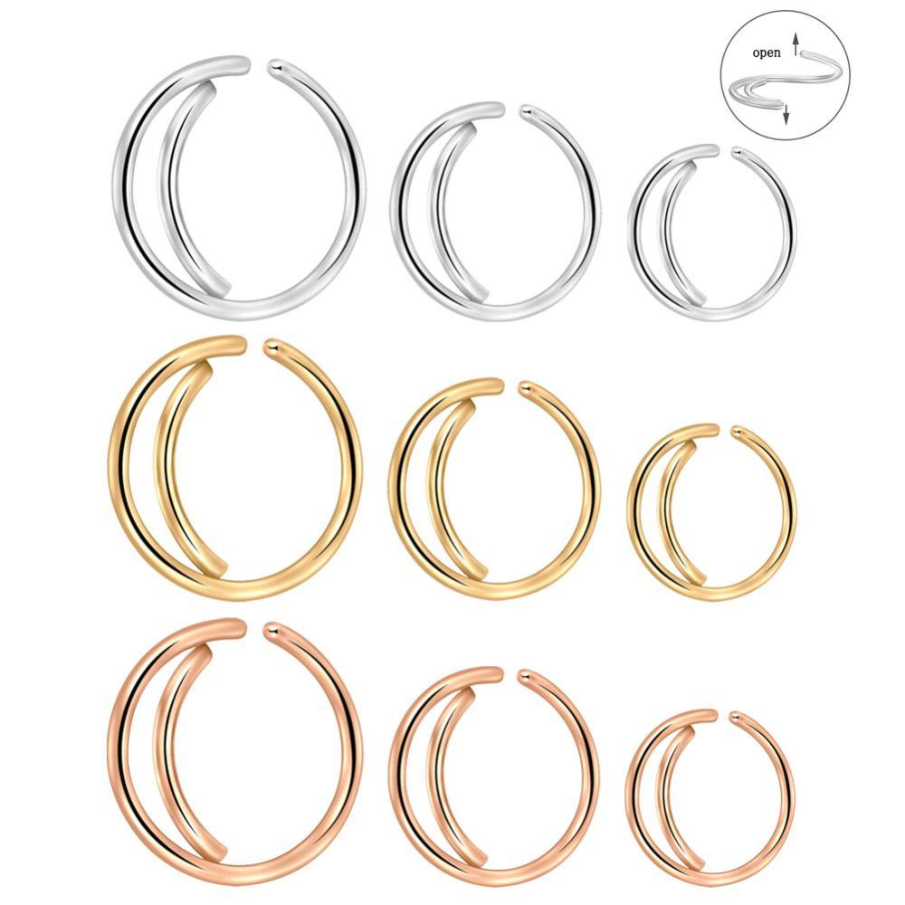 Tragus Earrings Small Nostril Hoop Moon Nose Ring Snug Septum Piercing