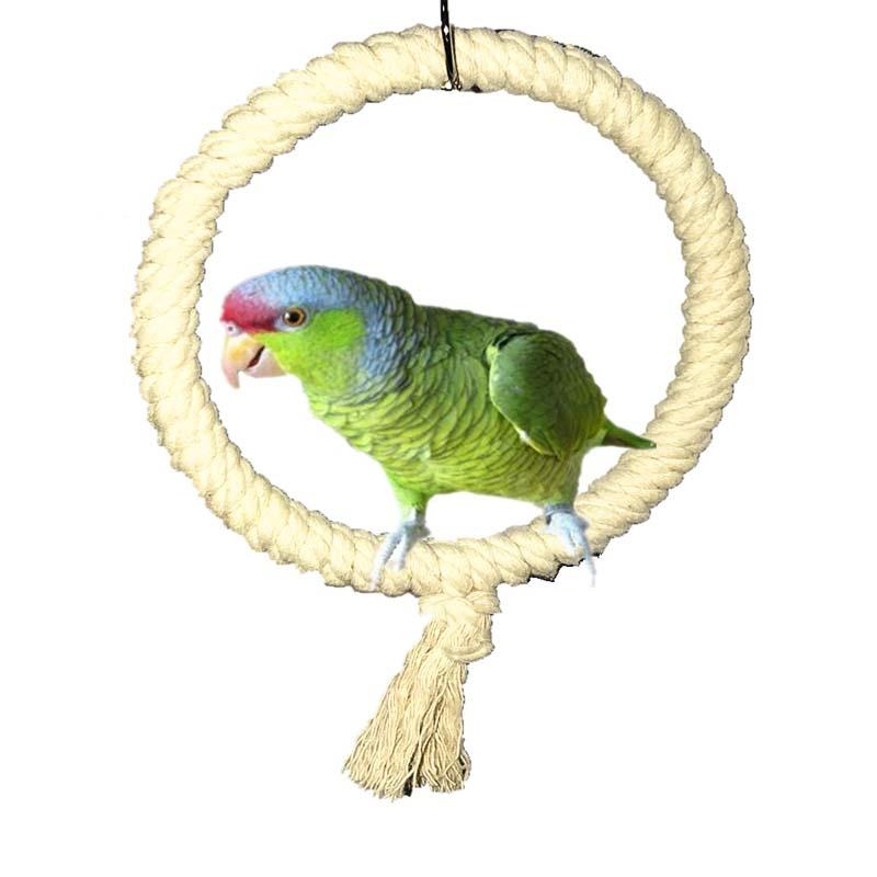 Bird Toys Cotton Rope Material Parrot Stand Holder Simple Hangable Bird Swing New Parrot Bite Climbing Toy Pet Supplies