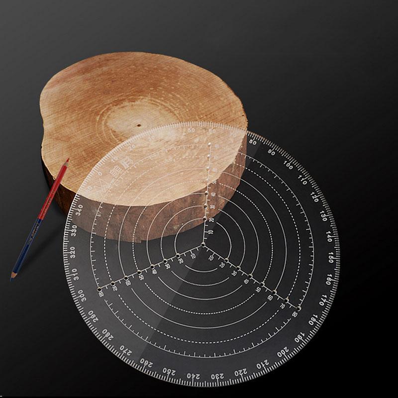 Açı scribe yuvarlak merkez çizgisi scribe ahşap cetvel marangoz yuvarlak kalp cetvel düzeni ölçer ağaç İşleme araçları