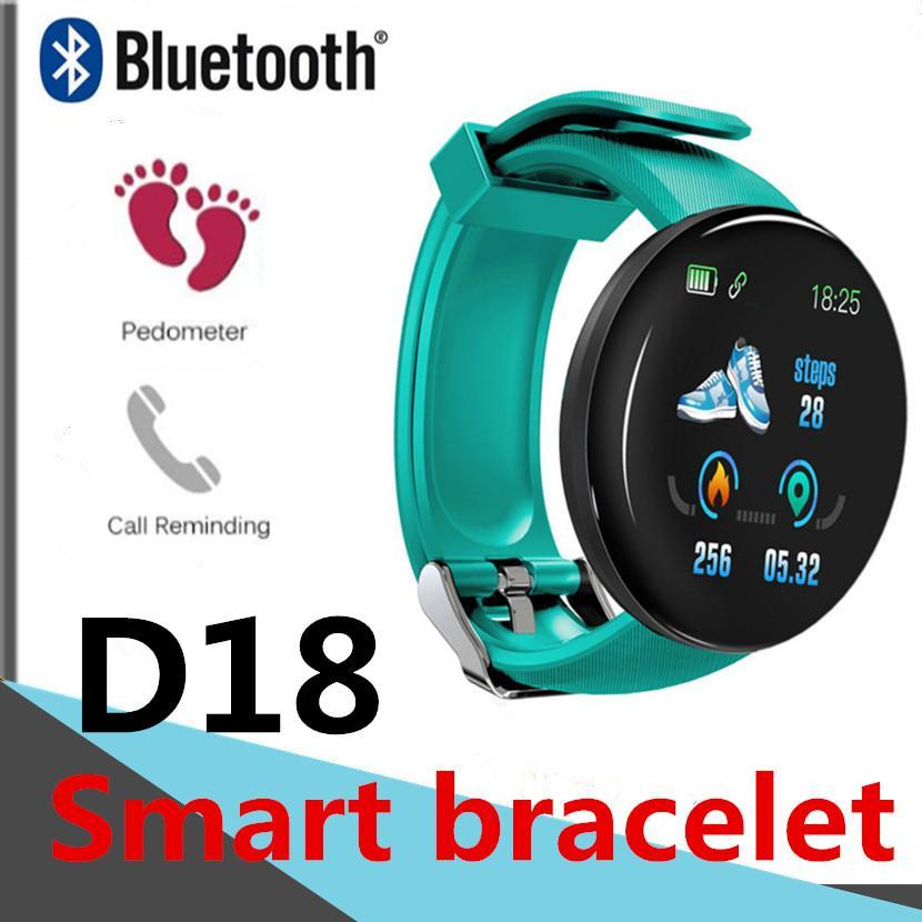 D18 Smart-Armband Fitness Tracker 116PLUS Herzfrequenz-Smart-Armband für Android sehen facebook whatsapp twitter 115plus A6 Bluetooth