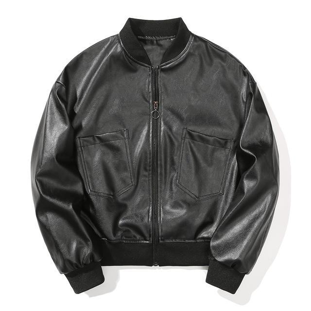 남성 폭격기 가짜 자켓 오토바이 가죽 남성 캐주얼 후드 PU 가죽 두꺼운 따뜻한 봄버 재킷 스포츠 지퍼 자켓 코트
