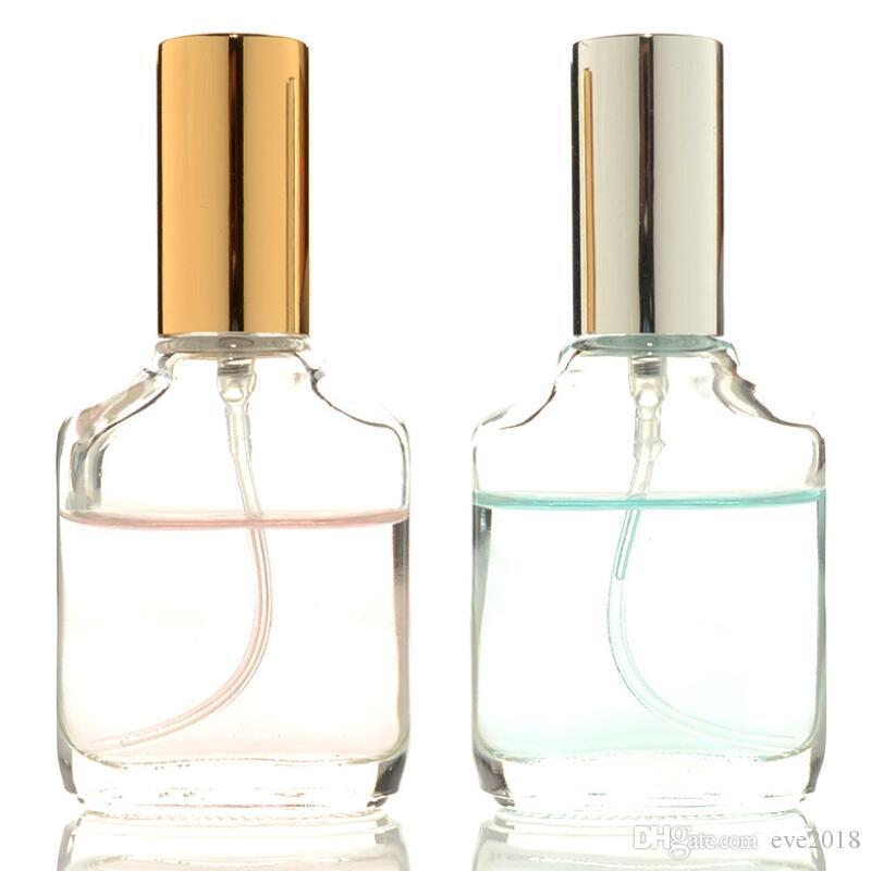 Yüksek Kalite 15ml Şeffaf Kare Cam İnce Mist Püskürtme Şişe Flakon Taşınabilir Mini Parfüm Atomizer Aromaterapi Nemlendirici Sıvı