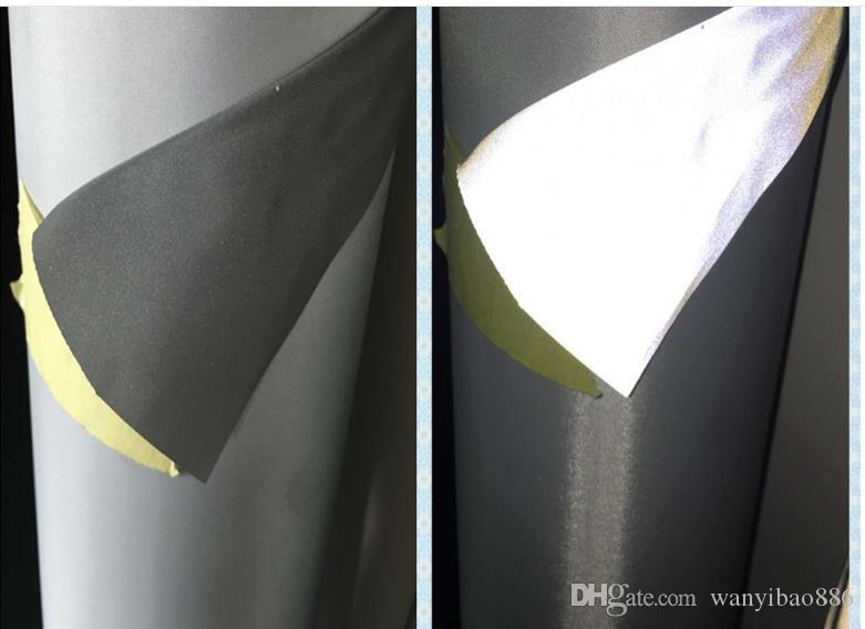 Hot Selling 5M/LOT 140cm Highlight chemical fiber Silver highlight reflective traffic police uniform warning fluorescent fabric