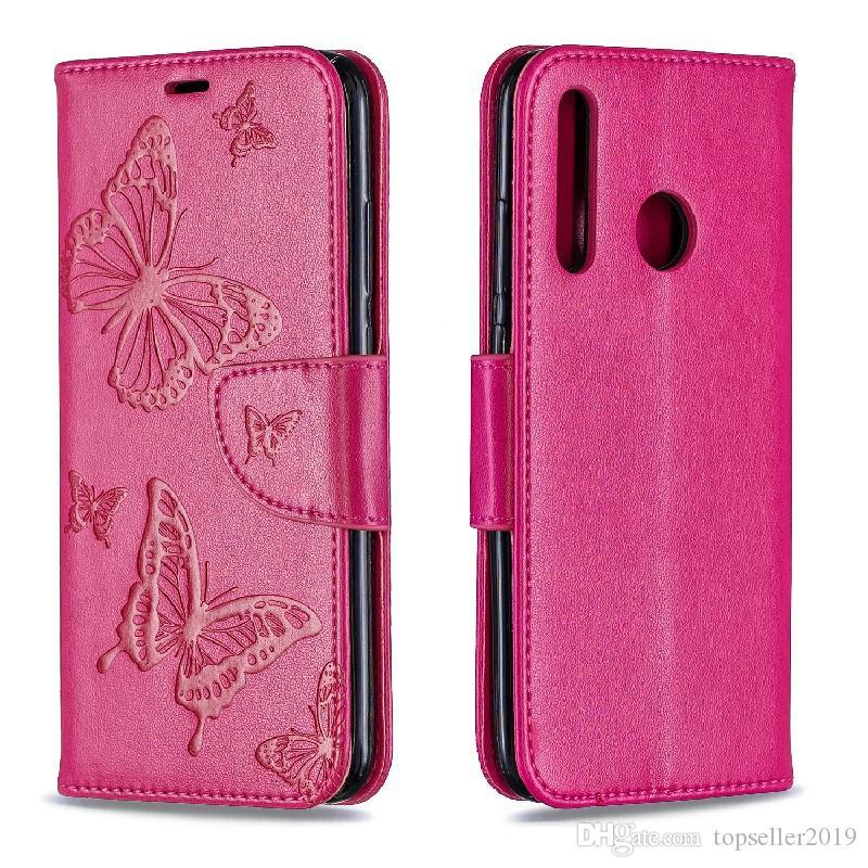 Pour Huawei Honor 10i PAMART PLUS 2019 Stand Conception Portefeuille Fleur Papillon Étui En Cuir Téléphone Sac Couverture Avec Étui pour téléphone et titulaire de la carte B070