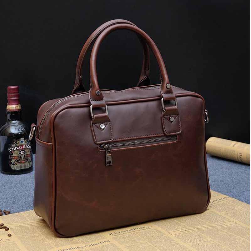 Tasche Aktentasche Handtasche SacoChe Leder Männer Mean Pu Homme Laptoptaschen CBTXI Tote Messenger Business QKFTX
