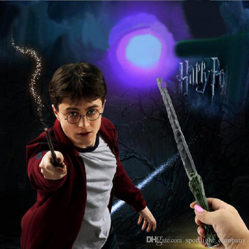 Harry Botter Flashing Props School Magic Led Light Wand Anime Figure Toy Children Halloween Party Show Gift Luminous Props Kids Bithday Toys