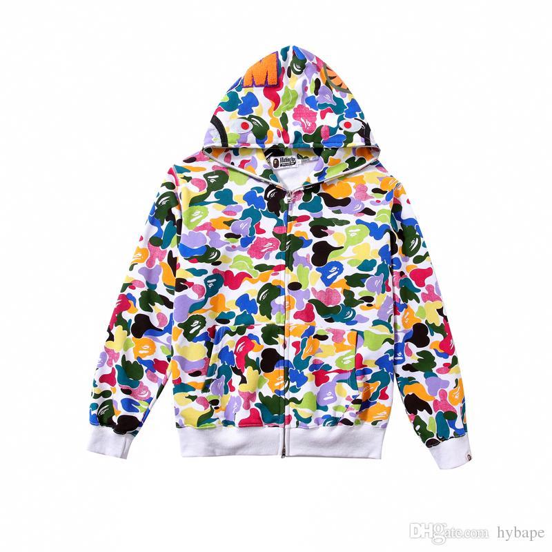 도매 가을 겨울 연인 캔디 카모 컬러 양털 자켓 스웨터 남자 캐주얼 스포츠 힙합 후드 후드 재킷