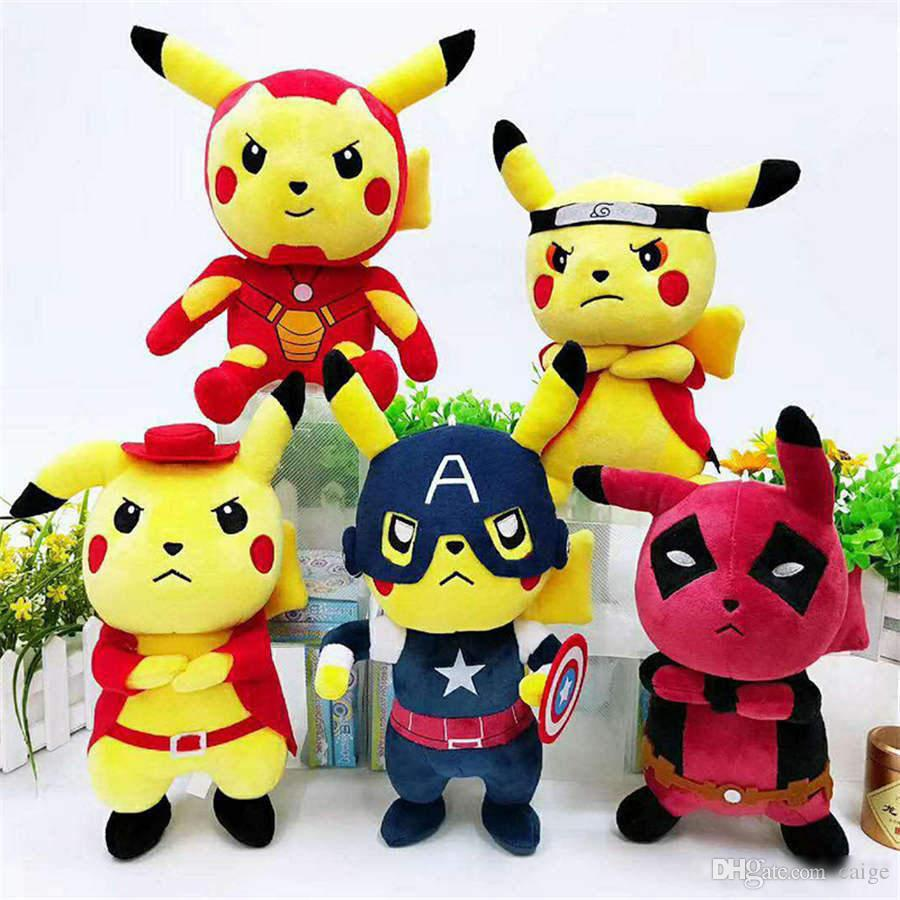 2019 new Pocket Monster plush toy Bikachu cosplay Naruto Stuffed Animals Bikachu children's gift toys Free Shipping